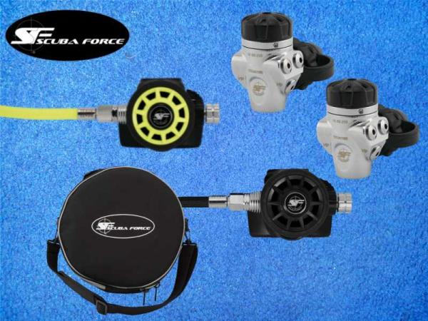 scubaforce, atemregler, regler, regulator, sidemount, stageregler, tech, blackdevil,